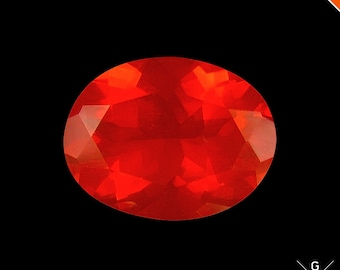 Fire Opal loose 1.44ct. Treasurable Gem! Natural stone Precious HOT orange red Mexican Fire Opal loose Gemstone see VIDEO