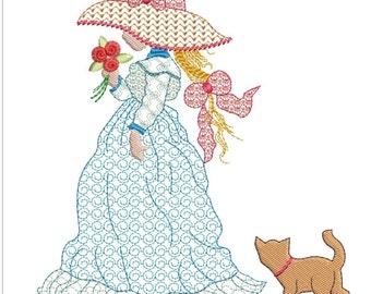 HOLLY HOBBIE MACHINE embroidery download 5 diff sizes (  4x4  5x5  6x6  7x7  8x8 )