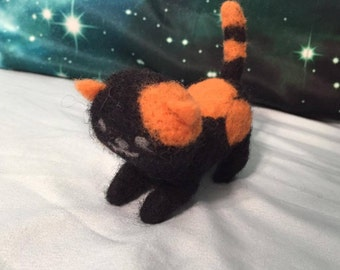 Neko Atsume Bandit Plush Felted Cat Plushie