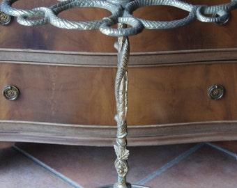 Antique Brass Umbrella stand snakes decor