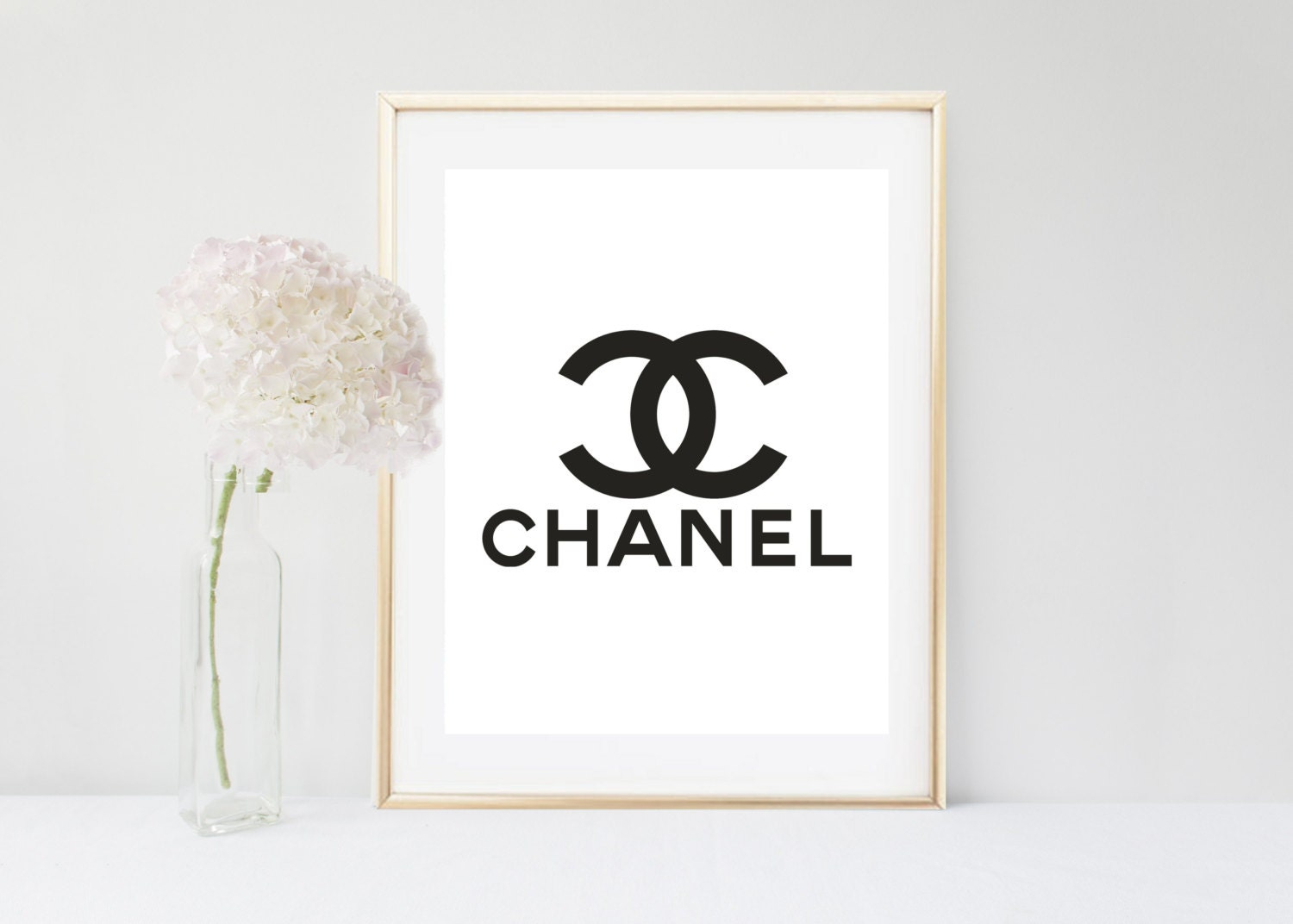 printable chanel logo fashion print coco chanel print