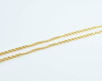 "Pinky Gold Filled Rope Chain 18KT Gold Filled Size 17 1/3"" Long 2mm Thickness Item #CG104"