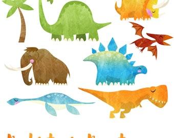 Dinosaur clipart | Etsy