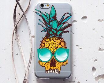 Skull Pineapple Case Day of The Dead S6 Phone Case S7 Case Galaxy S6 Case iPhone 6 Case iPhone 6s Case iPhone 5 Case iPhone 6 Plus Case 243