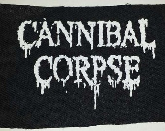 Cannibal Corpse patch black denim sew on patch