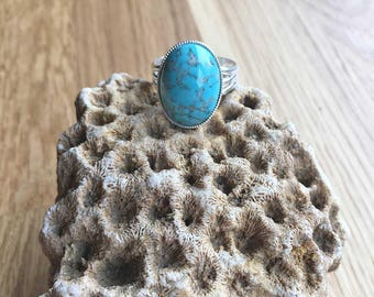 Turquoise Ring Medium Ring Adjustable Ring Turquoise Jewellery Statement Ring Gift For Her Womens Ring Womens Jewellery Handmade SPR19