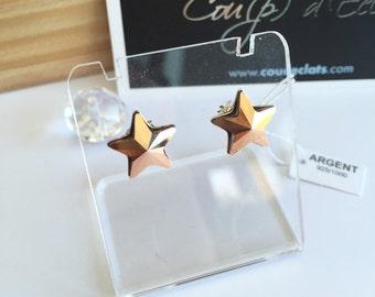 Studs star Swarovski® and Silver 925