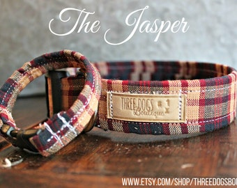 "Dog Collar with optional bff bracelet ""The Jasper ""FREE SHIPPING