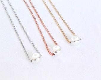 Choker necklace, silver choker necklace, simple choker, dainty choker necklace, silver choker, rose gold, gold choker, bridesmaid
