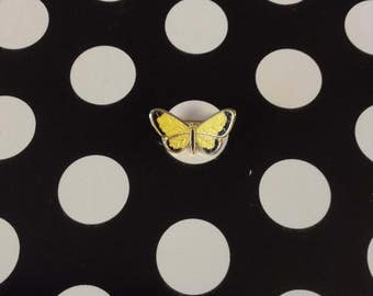 "Bitty Butterfly~Yellow and Black~Monarch~Pin~1"" Wide"