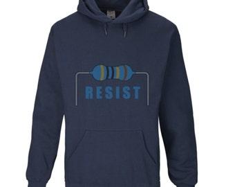 RESIST(or) Men's Hoodie. Navy Blue. All Sizes