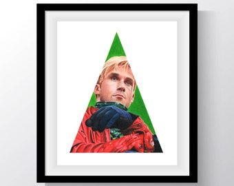 The Place Beyond The Pines Ryan Gosling Drawing Print