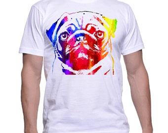 Pug T-shirt,pug art,pug tee,pug tshirt,pug shirt,pug clothing,pugs,dog art,dog tee,dog shrits,pug gifts,pug abstract,pug t,dog gifts,pug,