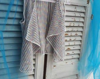 Loose-Fit Vest-Top Modern Cardigan for Girls
