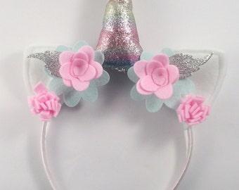 Rainbow Unicorn Horn Headband - Unicorn Photo Prop