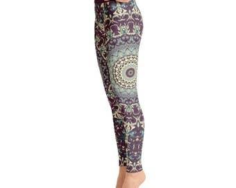 Fun and Funky Leggings - Printed Leggings, Mandala Yoga Leggings, Yoga Tights, Yoga Pants, Womens Stretch Pants