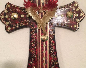 red & gold wing cross