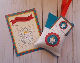 Tooth fairy kit,Tooth Fairy pillow,Lost tooth chart,Girls tooth fairy,Boys tooth fairy,Blue tooth Fairy pillow,Red tooth fairy pillow