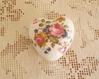 Royal Windsor Heart Shape Trinket Box England