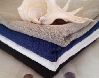 Thick Linen Bath Towel - Washed Linen Towel - Gray  Blue Dark Grey White bath towel - Sauna linen towel - Natural linen - Beach blanket