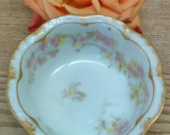 Antique Haviland & Co. Limoges Porcelain Fruit/Dessert/Sauce Bowl