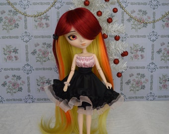 Dress pale pink and black Thyam [Pullip = ObitsuL27 cm]