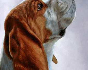 Dog Portrait Oil painting, Custom Dog painting, Commission a painting of your Dog, Dog Memorial, Pet Portrait, Gifts for dog lover.