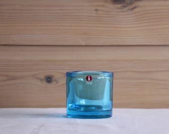 Iittala Kivi candle holder - Marimekko Light Blue - Made in Finland - Heikki Orvola