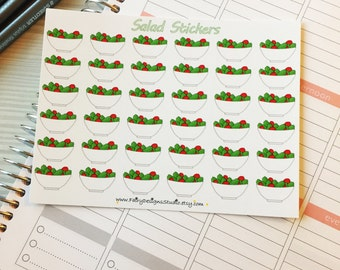 Salad Clean Eating Planner Stickers