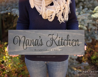 Nana's Kitchen Sign, Wooden Sign, Wall Art, Kitchen Sign, Wall Decor, Custom Signs, Hand Painted Signs, House Warming Gift  (GP1060)
