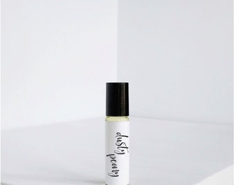 Dusty Peony - Perfume Oil - Vegan Perfume - Natural Perfume- Roll on - Jojoba Oil - Roller Ball Perfume