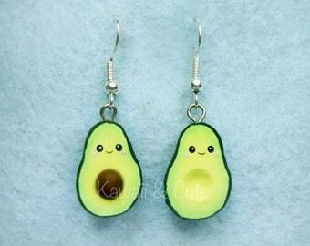 Earrings Avocado Kawaii