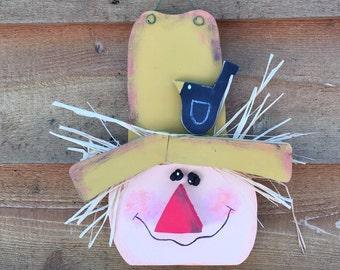 Hand Painted Primitive Scarecrow