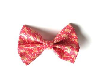 Shelly Bow - Peach Bow ~ Fabric bow ~ Lace Head band ~ Alligator clip bow ~ Pigtail Bows ~ Baby Headband ~ Adult Headband ~ Kids Headband