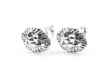 Sterling Silver Lion Earrings, Lion Stud Earrings, Boho, Bohemian, Gypsy, Festival Jewelry