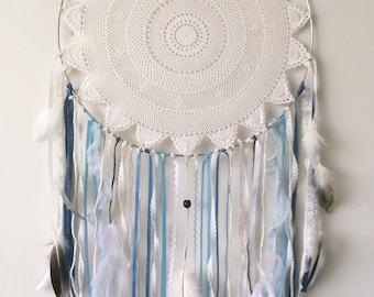 Handmade Dream Catcher -  Bohemian Gypsy Decor - Blue Dreamcatcher - Boho Wall Hanging