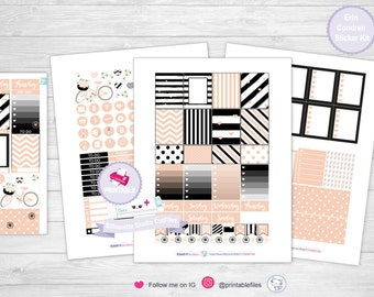 Vintage pink planner kit planner sticker kit planner stickers planner sticker weekly kit erin condren planner stickers planner life planner