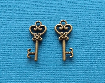 15 Key Charms Bronze - CB2633