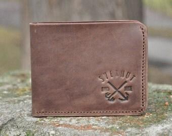 Leather wallet, small wallet, minimalist men's wallet, shot wallet,mini wallet,men's leather wallet,men's Leather Wallet
