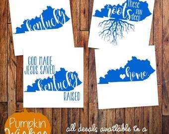 Kentucky Decal/Kentucky Car Decal/Kentucky Roots Decal/Kentucky Raised Decal/Kentucky Tumbler Decal/Kentucky Yeti cup decal