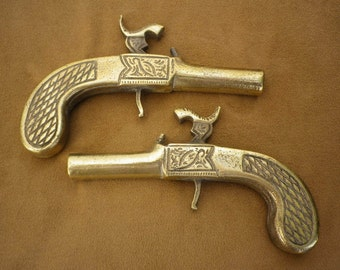 Pr Decorative Pistols, Vintage Brass