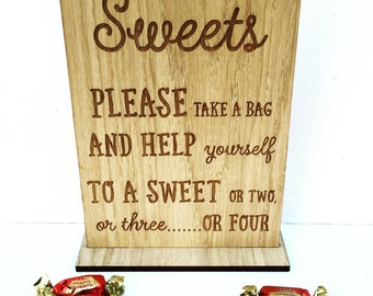 Sweet wedding sign, wedding table sign, take a treat wedding sign, love is sweet take a treat, sweet sign, 05WS