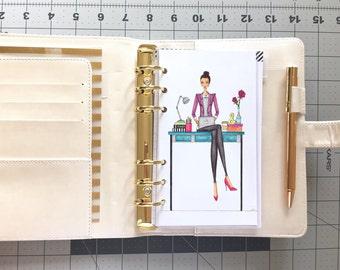 Writer: Planner Dashboard/Insert - Fashion illustration, decor, accessory, birthday, gift, christmas, holiday work journalist author