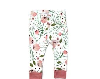 baby leggings // organic baby leggings // floral leggings // organic baby clothes // baby gift // toddler leggings // baby leggings girl