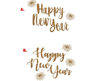 happy new year iron on happy new year decal new year iron on letters