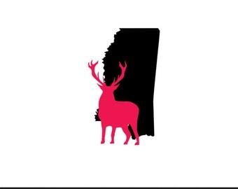 mississippi deer svg dxf jpeg png file stencil monogram frame silhouette cameo cricut clip art commercial use