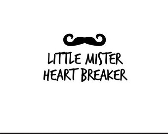 little mister heart breaker mustache valentines svg dxf jpeg png file stencil monogram frame silhouette cameo cricut clip art commercial use