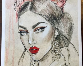 Lulutha Limited Edition Fashion Illustration Fine Art Print
