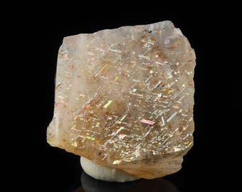 1.7cm RAINBOW LATTICE SUNSTONE from Australia - Rare Crystal, Sunstone Jewelry Making, Sunstone Cabochon, Sunstone Moonstone 36511