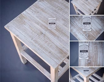 End Table / Nightstand, Wood White Washed End Table, Rustic White Washed End Table, Reclaimed Wood White Washed End Table by Pallodds